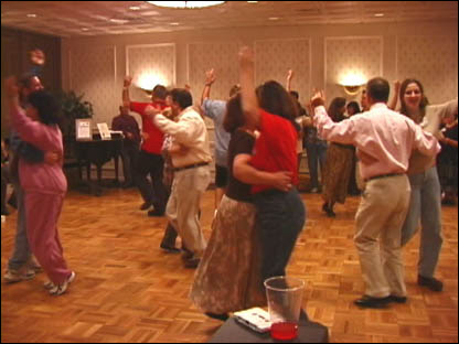 Lively tarantella in a dance workshop - Milwaukee (1999)