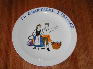 Plate created in the Piatti di Buon Ricordo workshop (2002)