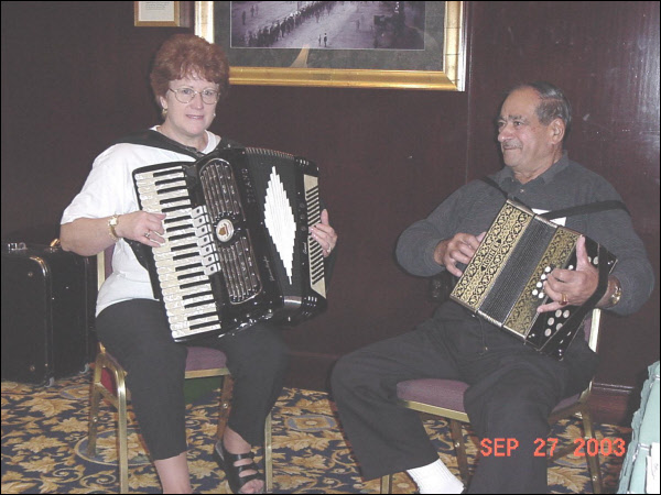 Diane De Gasparis and Gabriel Pelosi of I Gagliardi Italiani (2003)