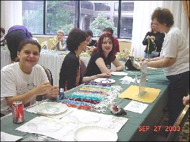 Rosary-making workshop (2003)