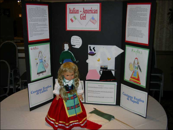 Poster display of Italian Folk Costumes (2004)
