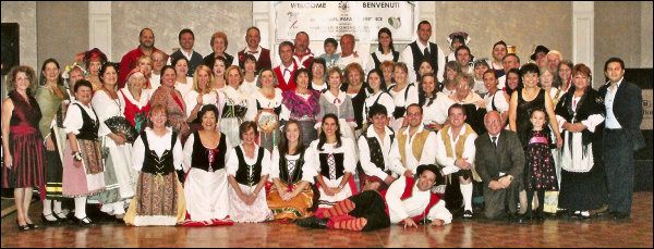 Conference attendees dressed in traditional Italian folk costumes (2013)