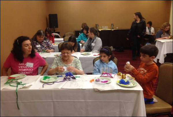 IFAFA Members create their own Venetian masks (2013)