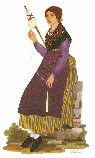 23 Contadina di Bagolino in Abito Invernale - Peasant Woman from Bagolino in Winter Clothing