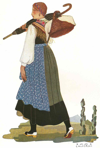 28 Contadina della Bassa Valtellina - Peasant Woman from Lower Valtellina