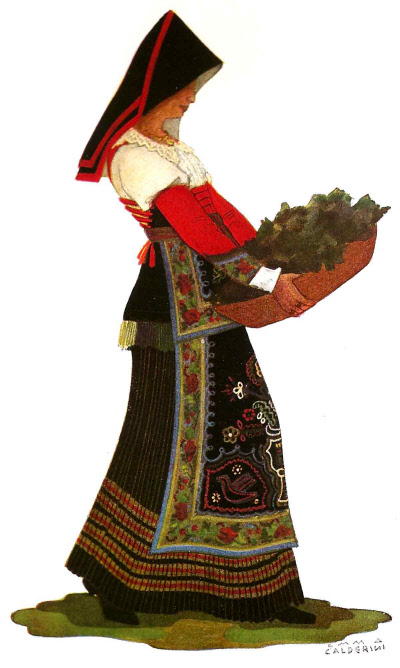 121 Contadina di Baranello in Abito di Gala - Peasant Woman from Baranello in Gala Dress