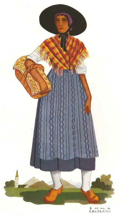 16 Contadina di Ayas - Peasant Woman from Ayas