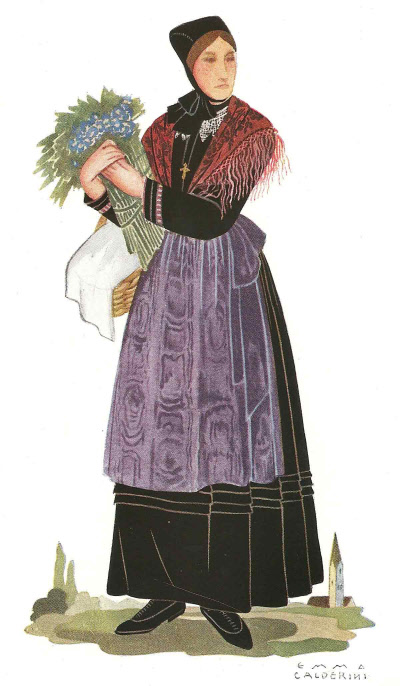 18 Donna di Saint Vincent in Abito Invernale - Woman from Saint Vincent in Winter Clothing