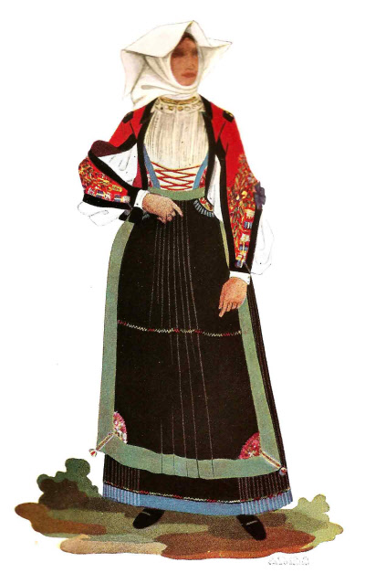 192 Popolana di Atzara in Costume Festivo - Country Woman from Atzara in Holiday Attire