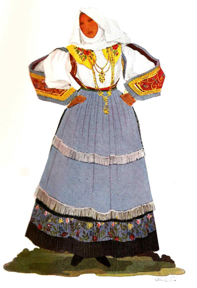 196 Donna di Sennori in Gala - Woman from Sennori in Festival Attire