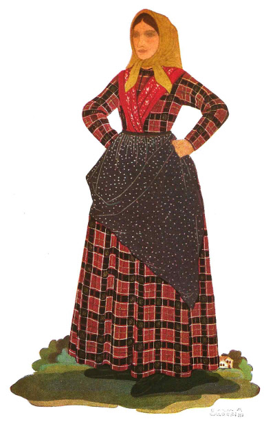 78 Costume di Contadina Toscana - Costume of Woman of Tuscany